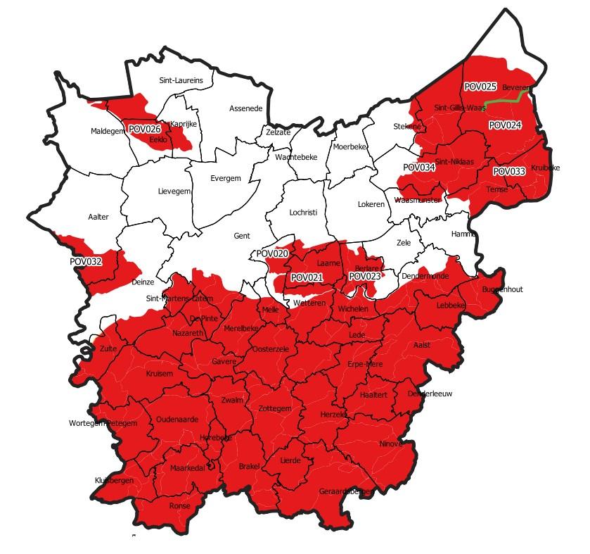Uitbreiding captatieverbod in Oost-Vlaanderen met vier stroomgebieden - 24 september 2020